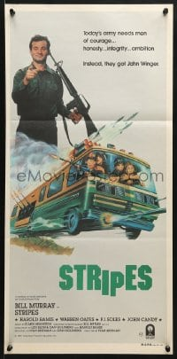 5k902 STRIPES Aust daybill 1981 Ivan Reitman, Bill Murray, wacky combat RV art by Jack Thurston!