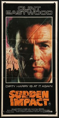5k903 SUDDEN IMPACT Aust daybill 1983 Clint Eastwood is at it again as Dirty Harry, great image!