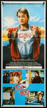 5k919 TEEN WOLF Aust daybill 1985 teenage werewolf Michael J. Fox, different image!