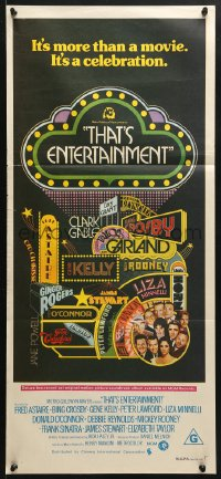 5k926 THAT'S ENTERTAINMENT Aust daybill 1974 classic MGM Hollywood scenes, it's a celebration!