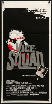 5k966 VICE SQUAD Aust daybill 1982 she's a whore, he's a psychotic pimp bent on revenge!