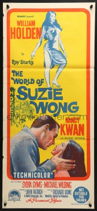 5k990 WORLD OF SUZIE WONG Aust daybill 1960 William Holden was the first man that Kwan ever loved!