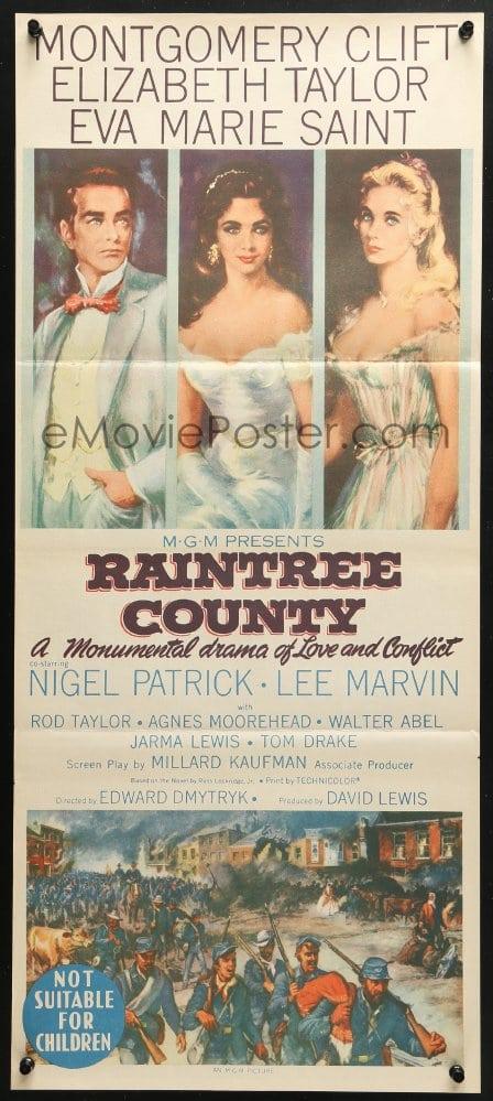 Raintree country Elizabeth Taylor vintage movie poster