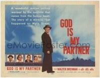 5m121 GOD IS MY PARTNER TC 1957 religious Walter Brennan, the miracle on Main Street!