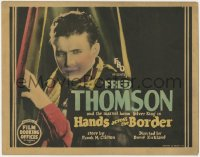5m127 HANDS ACROSS THE BORDER TC 1926 super close up of cowboy hero Fred Thomson!