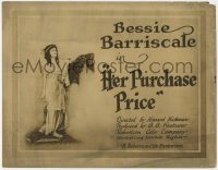 5m130 HER PURCHASE PRICE TC 1919 pretty English heiress Bessie Barriscale is in an Arab harem!