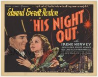 5m134 HIS NIGHT OUT TC 1935 Edward Everett Horton & Irene Hervey in a chuckling new comedy hit!