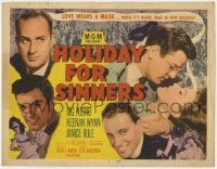 5m136 HOLIDAY FOR SINNERS TC 1952 Gig Young, Keenan Wynn, Rule, love wears a mask at Mardi Gras!