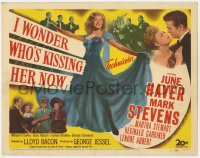 5m143 I WONDER WHO'S KISSING HER NOW TC 1947 full-length sexiest June Haver in flowing dress!