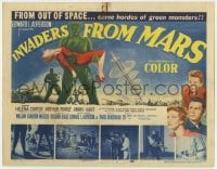 5m150 INVADERS FROM MARS TC 1953 classic, art of hordes of green monsters from outer space!