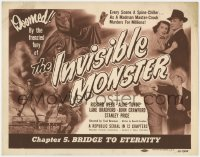5m152 INVISIBLE MONSTER chapter 5 TC 1950 Manhattan crook murders for millions, Bridge to Eternity!