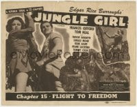 5m159 JUNGLE GIRL chapter 15 TC R1947 Frances Gifford, Edgar Rice Burroughs, Republic serial!