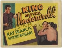 5m166 KING OF THE UNDERWORLD Other Company TC 1939 different art of Humphrey Bogart & Kay Francis!