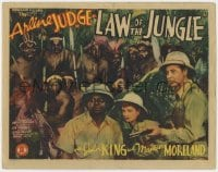 5m175 LAW OF THE JUNGLE TC 1942 Arline Judge, John King & scared Mantan Moreland w/African natives!