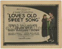 5m186 LOVE'S OLD SWEET SONG TC 1923 Donald Gallagher with pretty blonde Helen Weir!