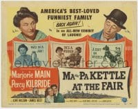 5m187 MA & PA KETTLE AT THE FAIR TC 1952 Marjorie Main, Percy Kilbride, America's best-loved family