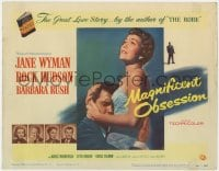 5m189 MAGNIFICENT OBSESSION TC 1954 blind Jane Wyman holding Rock Hudson, Douglas Sirk directed!