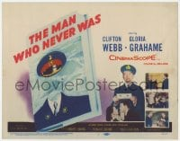 5m190 MAN WHO NEVER WAS TC 1956 Clifton Webb, Gloria Grahame, strangest military hoax of WWII!