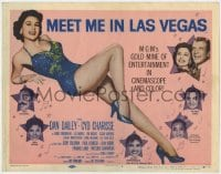 5m193 MEET ME IN LAS VEGAS TC 1956 super sexy full-length showgirl Cyd Charisse in skimpy outfit!