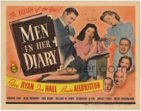 5m194 MEN IN HER DIARY TC 1945 Peggy Ryan, Jon Hall, Louise Allbritton, the BLUSH of the year!