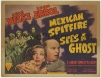 5m196 MEXICAN SPITFIRE SEES A GHOST TC 1942 Lupe Velez & Leon Errol in a haunted house!