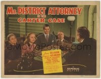 5m208 MR. DISTRICT ATTORNEY IN THE CARTER CASE TC 1942 James Ellison & Virginia Gilmore in court!