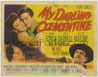 5m209 MY DARLING CLEMENTINE TC 1946 John Ford, Henry Fonda, Victor Mature, sexy Linda Darnell!