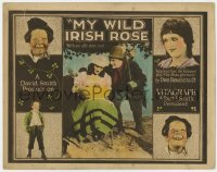 5m212 MY WILD IRISH ROSE TC 1922 great images of Pat O'Malley, Helen Howard and Mickey Daniels!