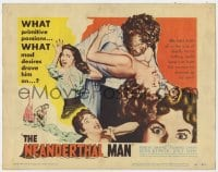 5m213 NEANDERTHAL MAN TC 1953 great wacky monster image, nothing could keep him from his woman!