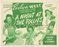 5m215 NIGHT AT THE FOLLIES TC 1947 barely-dressed hubba-hubba girl Evelyn 'Treasure Chest' West!