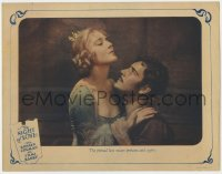 5m636 NIGHT OF LOVE LC 1927 close up of Ronald Colman & Vilma Banky in passionate embrace!