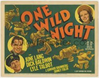 5m225 ONE WILD NIGHT TC 1938 June Lang, Dick Baldwin, Andrew Tombes, great police chase art!