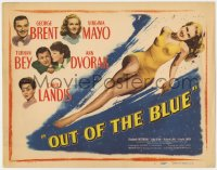 5m227 OUT OF THE BLUE TC 1947 super sexy full-length Virginia Mayo in swimsuit!