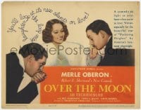 5m228 OVER THE MOON TC 1939 Merle Oberon in Robert E. Sherwood's comedy, Alexander Korda!