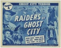 5m235 RAIDERS OF GHOST CITY chapter 4 TC 1944 Dennis Moore western serial, Ghost City Terror!
