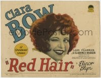 5m238 RED HAIR TC 1928 sexy gold-digging manicurist Clara Bow wants a rich husband, ultra rare!
