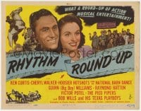 5m241 RHYTHM ROUND-UP TC 1945 Ken Curtis, Cheryl Walker, country western musical entertainment!