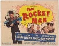 5m244 ROCKET MAN TC 1954 great image of Foghorn Winslow with ray gun, written by Lenny Bruce!