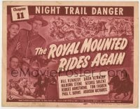 5m245 ROYAL MOUNTED RIDES AGAIN chapter 11 TC 1945 Canadian Mountie serial, Night Trail Danger!