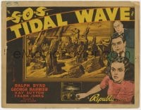 5m247 S.O.S. TIDAL WAVE TC 1939 natural disaster artwork of New York City being destroyed!