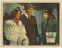 5m733 STRANGE TRIANGLE LC 1946 Preston Foster between Anabel Shaw and Signe Hasso, film noir!
