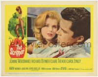 5m735 STRIPPER LC #2 1963 super close up of Richard Beymer and Carol Lynley in convertible!