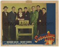 5m736 SUBMARINE ALERT LC #7 1943 posed portrait of Richard Arlen, Wendy Barrie, and rest of cast!