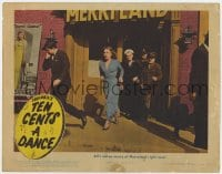 5m744 TEN CENTS A DANCE LC 1945 Joan Woodbury rushing from Merryland with soldiers!