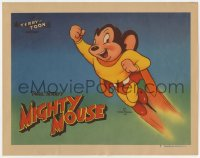 5m747 TERRY-TOON LC #1 1946 wonderful cartoon image of Paul Terry's Mighty Mouse flying!