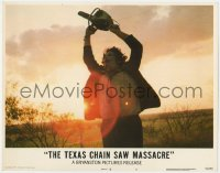5m754 TEXAS CHAINSAW MASSACRE LC #3 1974 iconic horror image of Leatherface holding chainsaw!