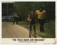 5m755 TEXAS CHAINSAW MASSACRE LC #4 1974 Tobe Hooper cult classic, Leatherface chasing two people!