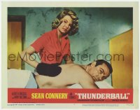 5m775 THUNDERBALL LC #3 1965 Sean Connery as James Bond gets a rubdown from sexy Molly Peters!