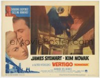 5m801 VERTIGO LC #7 R1963 Alfred Hitchcock classic, James Stewart on stairs in famous tower scene!