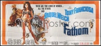 5p010 FATHOM 24sh 1967 Jerry Allison art of sexy Raquel Welch in skimpy outfit, ultra rare!